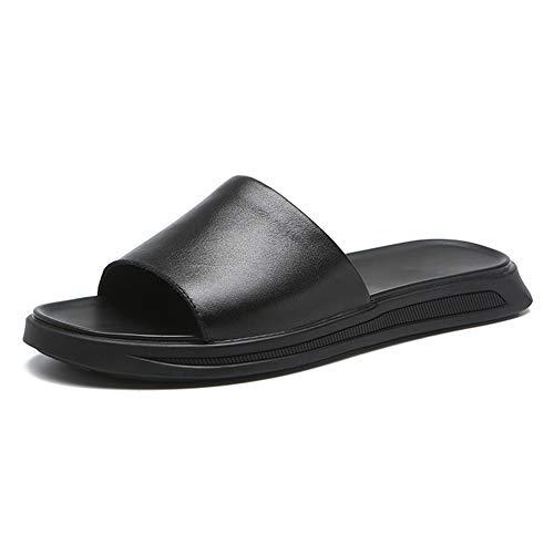 RASHLD De Los Hombres Piel Genuina Sandalias, Simple Elegante Zapatos, Vacaciones en la Playa,42