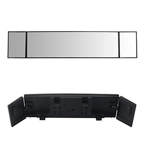 MIAOKE Auto Rückspiegel, Panorama Spiegel Rückspiegel, Large Vision 386mm Gebogener Spiegel, Weitwinkel gekrümmter Rückspiegel, Innenspiegel für toten Winkel für Autos