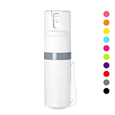 POM Pepper Spray White Flip Top Pocket Clip - Maximum Strength OC Spray - Self Defense - Tactical Compact & Safe Design - 25 Bursts & 10 ft Range - Powerful & Accurate Stream Pattern