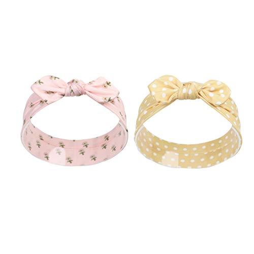 Lurrose 2 stuks baby strik hoofdband peuters elastische hoofdbanden vlinder patroon voor peuters baby party baby baby douche hoofdtooi Größe 1 Afbeelding 3.