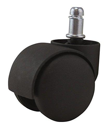 Waytex Roulette Universelle pour Fauteuil Couleur Noir, Plastique, 6x6x10 cm