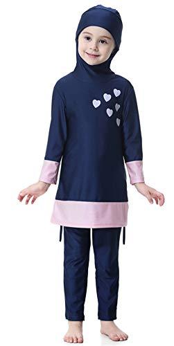 TianMai Mädchen Kinder Muslimische Bademode Islamische Schwimmanzug Badeanzug Burkini Muslim Swimwear (N2, 140cm)