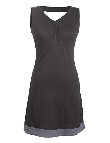 Vishes - Alternative Bekleidung - Ärmelloses Damen Kleid Bio-Baumwolle - Rücken-Ausschnitt geflochten schwarz 36