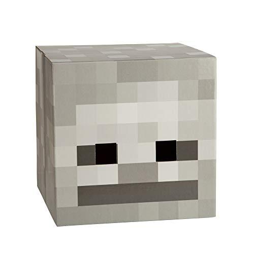 JINX Minecraft Skeleton Head Costume Mask, Cardboard, 12x12x12 inches