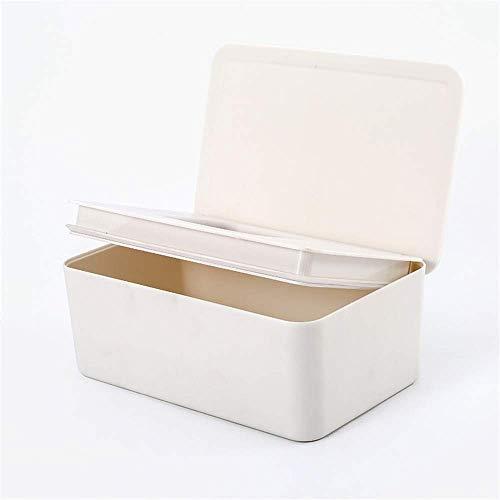 YANGSANJIN Huishoudelijke Tissue Box Cover Rechthoekig Acryl, Doekjes, Baby Tissue Opbergdoos - Met deksel, Huishoudelijke Outdoor Handdoek Rack, 18.5x12.2x7cm, Crème