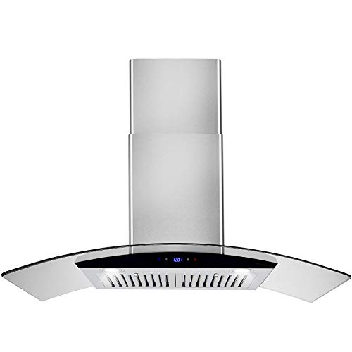 AKDY Convertible Kitchen Wall Mount Range Hood in Stainless Steel...