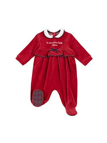 Chicco Tutina con Apertura Sul Patello Mamelucos para bebés y niños pequeños, Rosso, 56