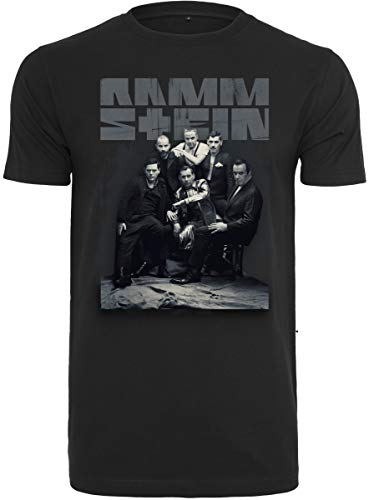 Rammstein Herren Band Photo Tee T-Shirt, Black, L