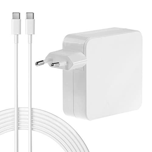 Cargador Adaptador de Corriente USB Tipo C de 65 W 61 W para MacBook Pro de 13 Pulgadas (2016 2017 2018 2019 2020) MacBook Air (Finales de 2018 2019 2020) iPad Pro 11/12,9 Pulgadas (2018 2020)