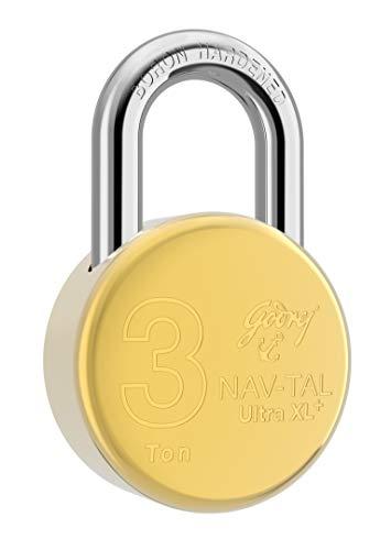 Godrej Nav-tal Ultra XL+ Brass Padlock - 4 Keys