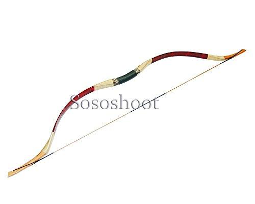 Buffalo Hunting Bow and Arrow Handmade Recurve Horsebow Longbow for Adults (30lbs)