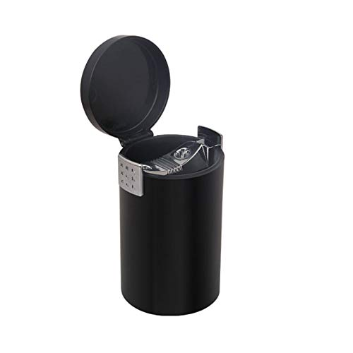 Xcwsmdq Mülleimer Tragbare Auto-Aschenbecher Geschlossen Große Kapazität Abnehmbarer Abfalleimer Sundries Lagercontainer Autoinnenausstattung Reinigungsmittel (Color Name : Black)