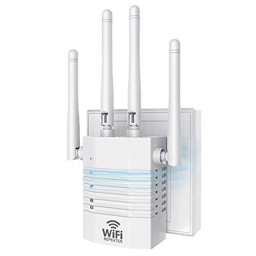 MTX-Racks Repetidor WiFi inalámbrico de 300 Mbps Extensor de Rango WiFi de 2,4 GHz Amplificador de señal WiFi Amplificador de WiFi Repetidor de Largo Alcance Repetidor Wi-Fi Modo Dual,White