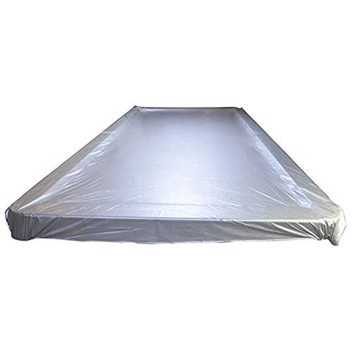 SSRS Jardín Muebles de ratán Cubierta Mesa de Billar a Prueba de Polvo Impermeable Protector Solar Tela Impermeable de Tela Oxford, 4 Tamaño portátil, Duradero (Color : Silver, Size : 385X206CM)