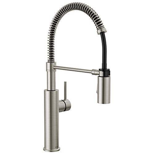 Delta Faucet Antoni Pull Down Kitchen Faucet with Pull Down Sprayer, Commercial Kitchen Sink Faucet, Faucets for Kitchen Sink, Magnetic Docking Spray Head, SpotShield Stainless 18803-SP-DST