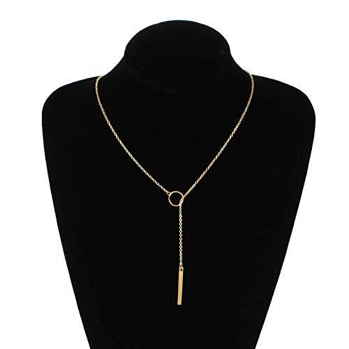 Collar para mujer de moda de color dorado collar para mujeres collares de moda joyería collar colgante boho 4