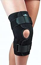 FLA Orthopedics 37-3503LBLK Safe - T - Sport Wrap - Around Hinged Knee Stabilizing Brace Black XXXL