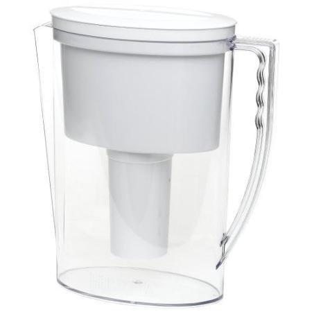 Brita Ob11/42629 42629 Slim Water Filter Pitcher, Clear/white (ob11-42629)