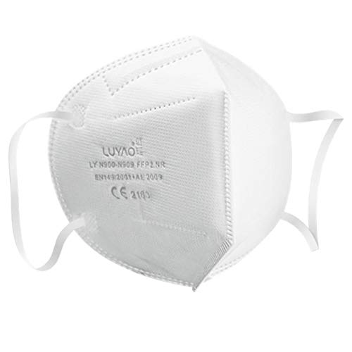 Atemschutzmaske FFP2 – EU CE 2163 Zertifiziert EN 149 Schutzmaske 20 Stück WEIß - 4