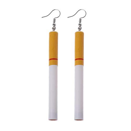 KINTRADE Kreative Simulation Zigarettenkippen Acrylharz Ohrringe Verrückte Spaß Dame Modeschmuck