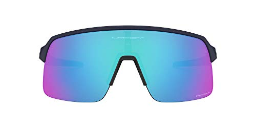 Oakley Men's OO9463 Sutro Lite Rectangular Sunglasses, Matte Navy/Prizm Sapphire, 139 mm