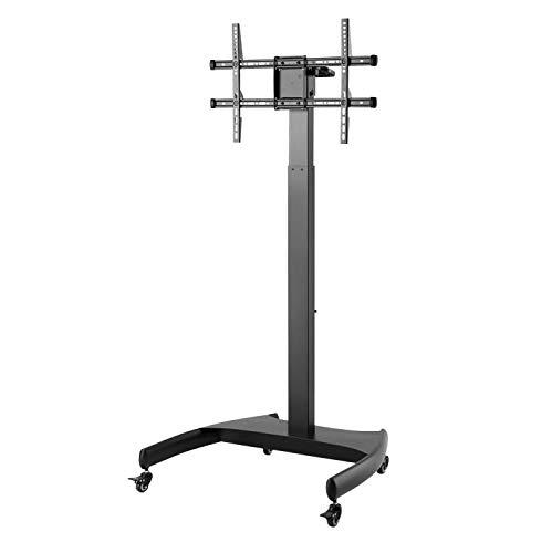 Sbox Fs-946 Vloerstandaard voor tv-scherm of monitor 43-65 inch, 30 kg, oscillerend, draaibaar, weegschaal 200 x 200 tot 600 x 400 cm