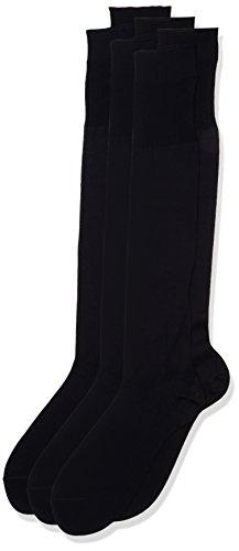 POMPEA Scozia Calze al ginocchio, Blu (Navy 1556), 42/43 (Taglia produttore:11/11.5) (Pacco da 6) Uomo
