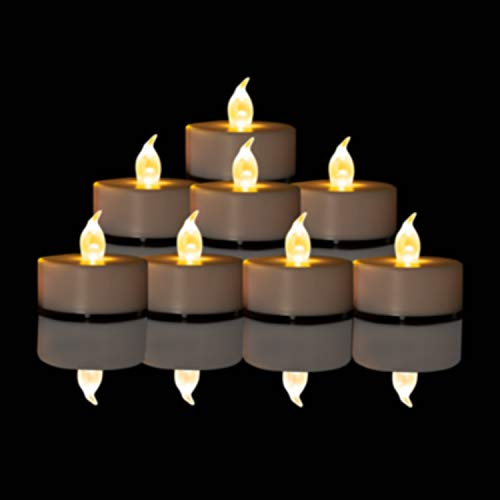 Battery Operated Flameless Tea Lights: 24PACK LED Electric Candles...
