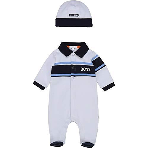 Hugo Boss Baby Kombination Strampler und Mütze mit Logo Details 3-9 Monate, Größe: 6 Monate (62-68)