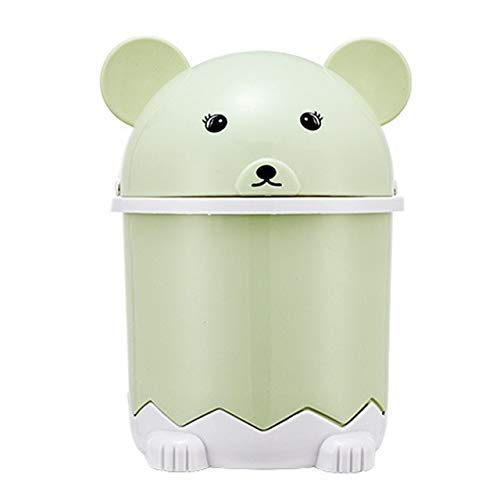 2 Stück/Edelplastikpapierkorb mit Deckel Lagerung Eimer Tischchen Debris Barrel Desktop-Papierkorb Kleinen Miniskirt Trash Can Bento Lunch Box for Kinder (Farbe: B) 1yess (Color : B)