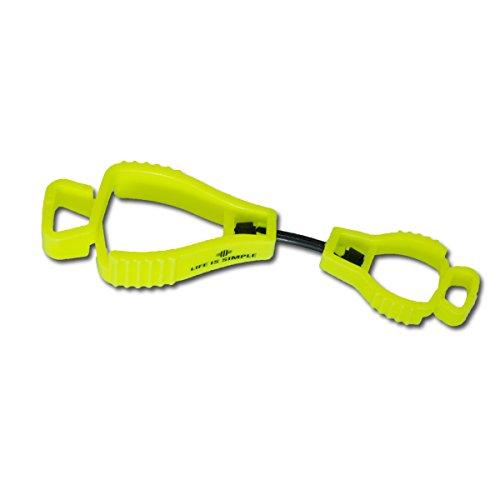 Tarp Clip neongelb mit Aufdruck Handschuhhalter für Schutzhandschuhe, Arbeitshandschuhe oder Taschenlampe (Feuerwehr)