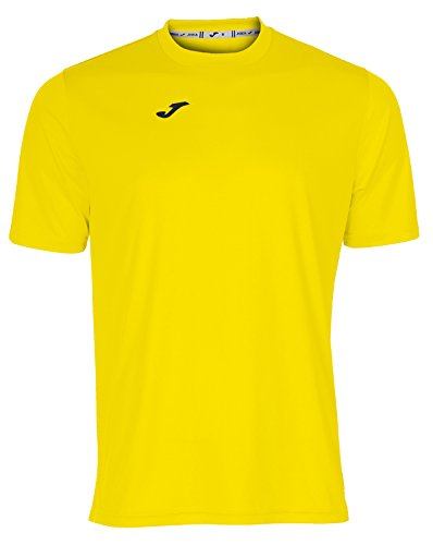 Joma Combi Camiseta Manga Corta, Hombre, Amarillo, M