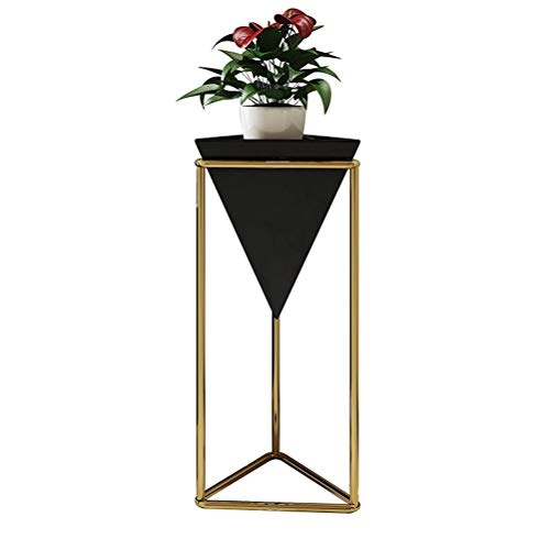 CHENGXI-Blumenständer Edelstahl dekorative Blumen-Stand, Stand-Creative-Storage Rack Multifunktions-Pot-Rack HJ03-02 (Color : Black)