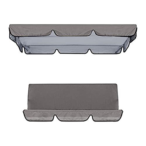Cubierta impermeable para columpio, toldo y silla de jardín, protección solar (gris)