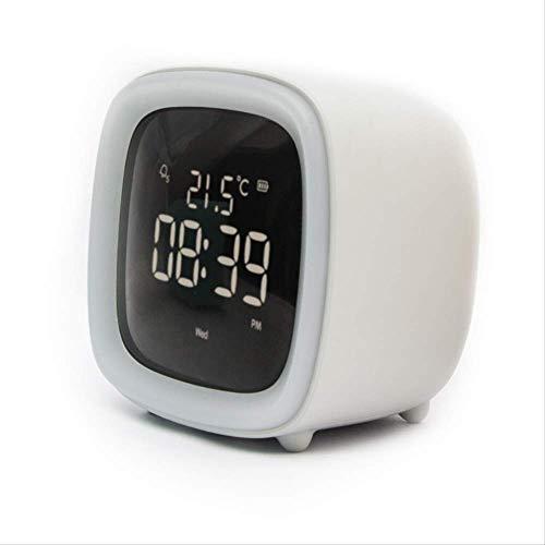 AP2 Abs-Made Led Digital Wecker, Tv-Förmiges Nachtlicht Mit Haustier-Ohr-Thermometer, Multifunktions-Schlaf-Wecker, Niedlicher Student
