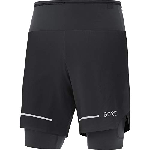 GORE WEAR Short de running Ultimate 2in1 para hombre, M, Negro