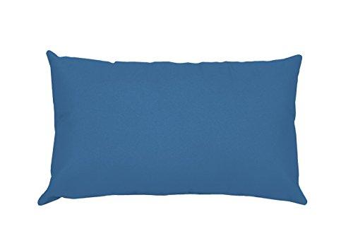 Lovely Casa T24820001Alicia Kissenhülle, 50x 70cm, 100% Baumwolle, Blue Jean, 50 x 70 cm