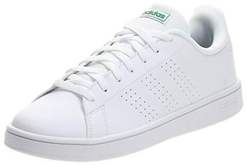 Adidas Advantage Base, Zapatillas Hombre, Blanco Verde, 39 1/3 EU