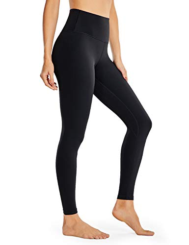 VANTONIA Women's Leggings High Waisted Tummy Control Full-Length Yoga Tights Workout Pants- 28 Inches Black-28 X-Small