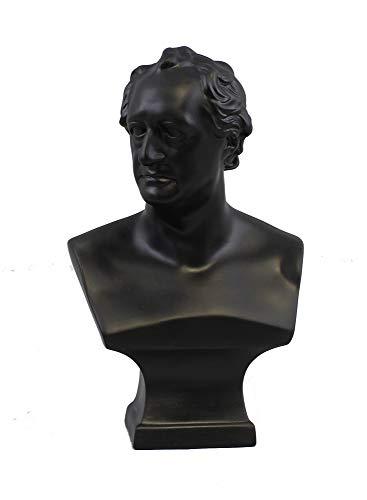 Kämmer Große Büste Bisquitporzellan Goethe schwarz