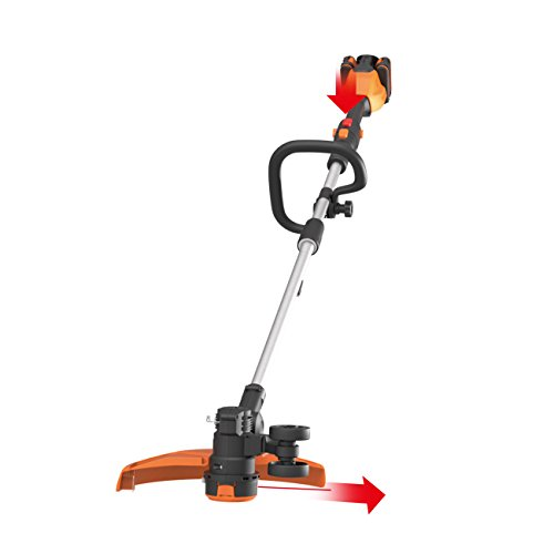 WORX WG184E.9 40V (36V) Dual Battery (2x 20V Battery) Cordless 33cm Grass Trimmer - BODY ONLY