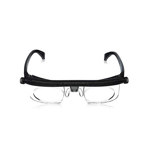 YABAISHI Focus Ajustable Lectura Gafas Myopia Lentes -6D a + Dioptrías 3D Ampliando la Fuerza Variable (Color : 1)