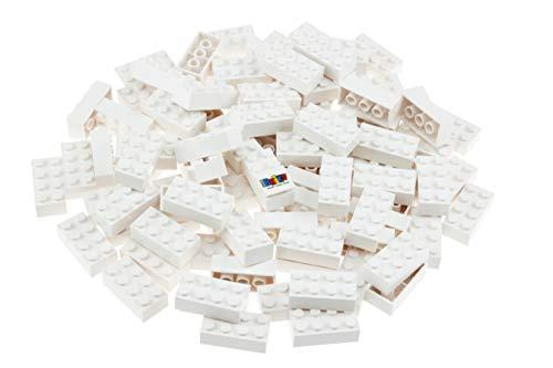 Strictly Briks - set mattoncini classici - 100% compatibile con tutte le principali marche - bianco - 96 pezzi 2x4