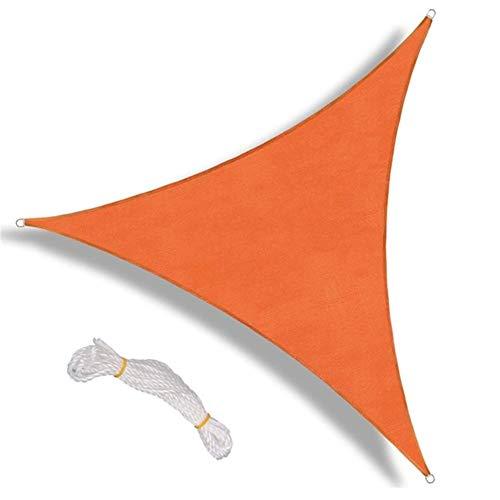 YJXCC Triángulo Parasol Toldo de Vela Pérgolas Cubierta Superior Permeable UV Bloque Tela de jardín al Aire Libre (Color : Naranja)
