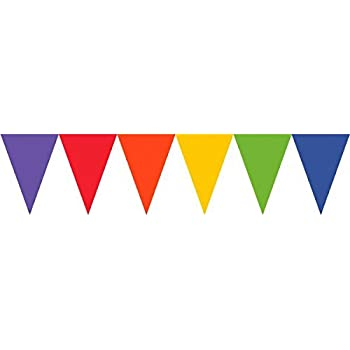 amscan Rainbow Paper Pennant Banners 4.5m
