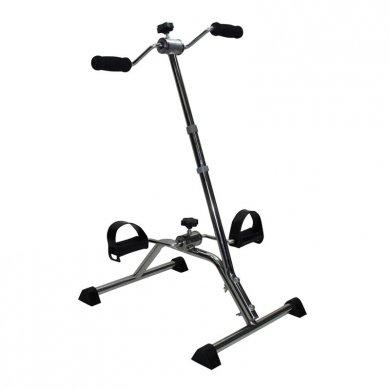 Pedaliera cyclette in acciaio per riabilitazione gambe e braccia miniciclo con impugnature rotanti