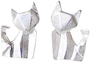 Origami Fox Earrings in Sterling Silver 925 - Jamber Jewels