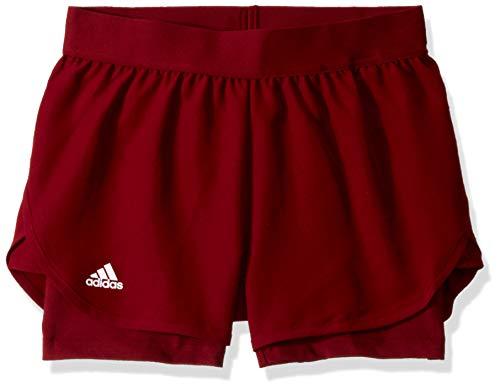 adidas Club - Pantaloncini da Tennis da Ragazza, Bambina, Pantaloncini, S1907W510G, Collegiate Burgundy/Collegiate Burgundy, XL