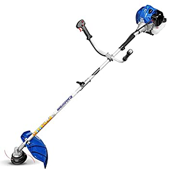 WEMARS 42.7CC Gas String Trimmer 2-Cycle Gas Brush Cutter Straight Shaft 2 in 1 Cordless Grass Edger Weed Wacker Gasoline Powered Weed Eater  WS-ST42G