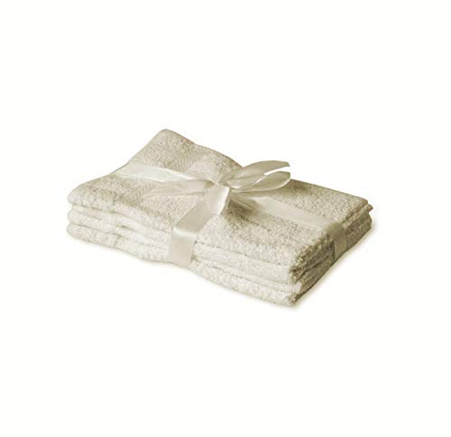 Exklusiv-Heimtextil Lot de 4 Serviettes pour invit/és Blanc 30 x 50 cm